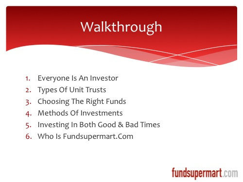 Walkthrough the webinar content