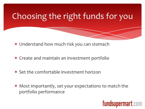 Choosing the right unit trust fund