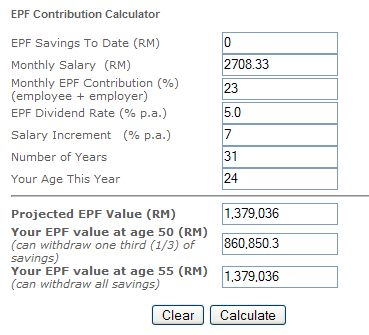 Time Value of Money: Computing the Retirement Fund in EPF