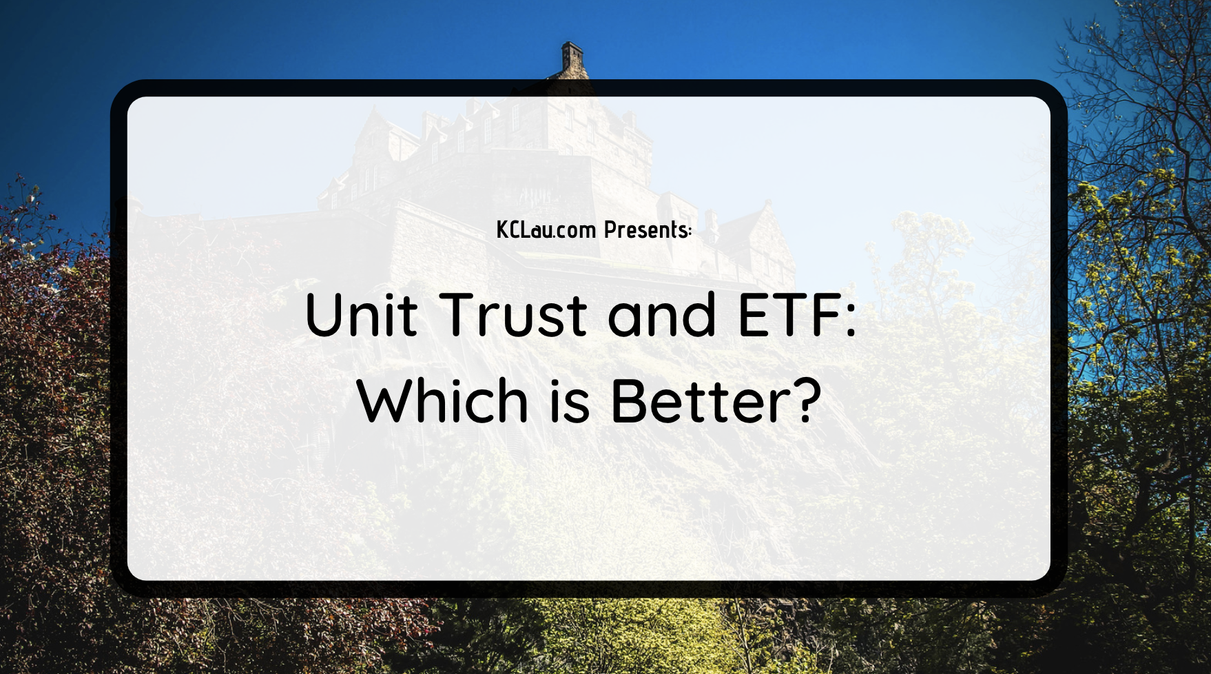 Unit Trust and ETF: Which is Better?