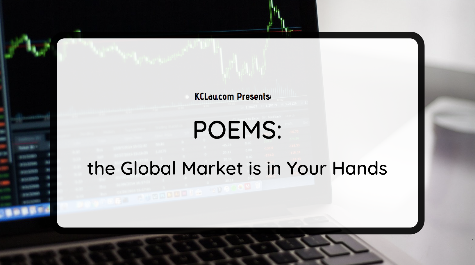 POEMS, the Global Market is in Your Hands