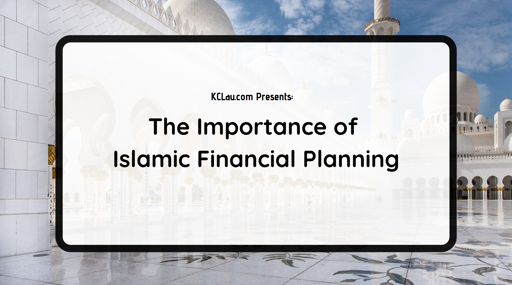 The Importance of Islamic Financial Planning