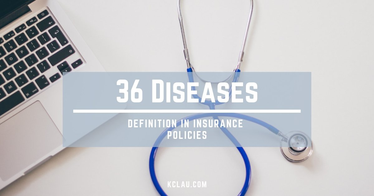 Definition of 36 Critical Illnesses or Dread Diseases in Insurance Policy