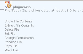 click extract files contents