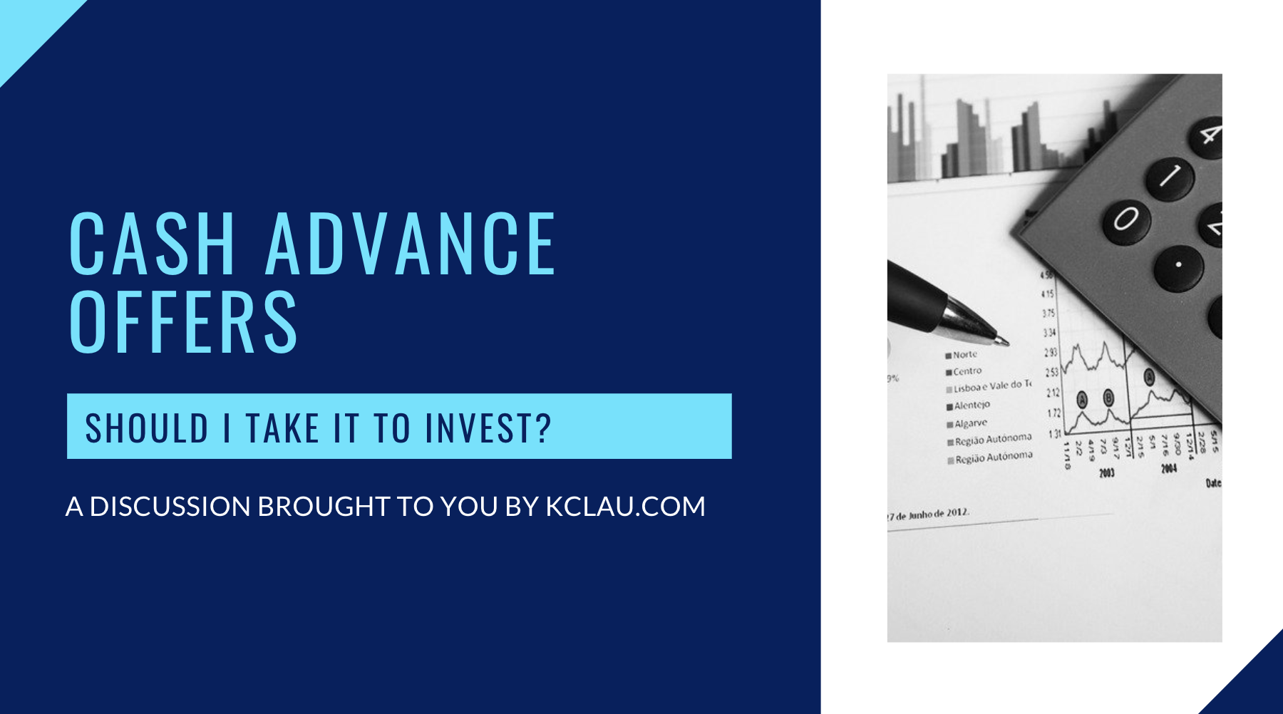 Should I take Cash Advance for Investments?