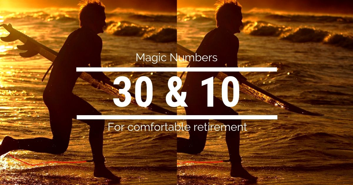 Two Magic Numbers for Comfortable Retirement