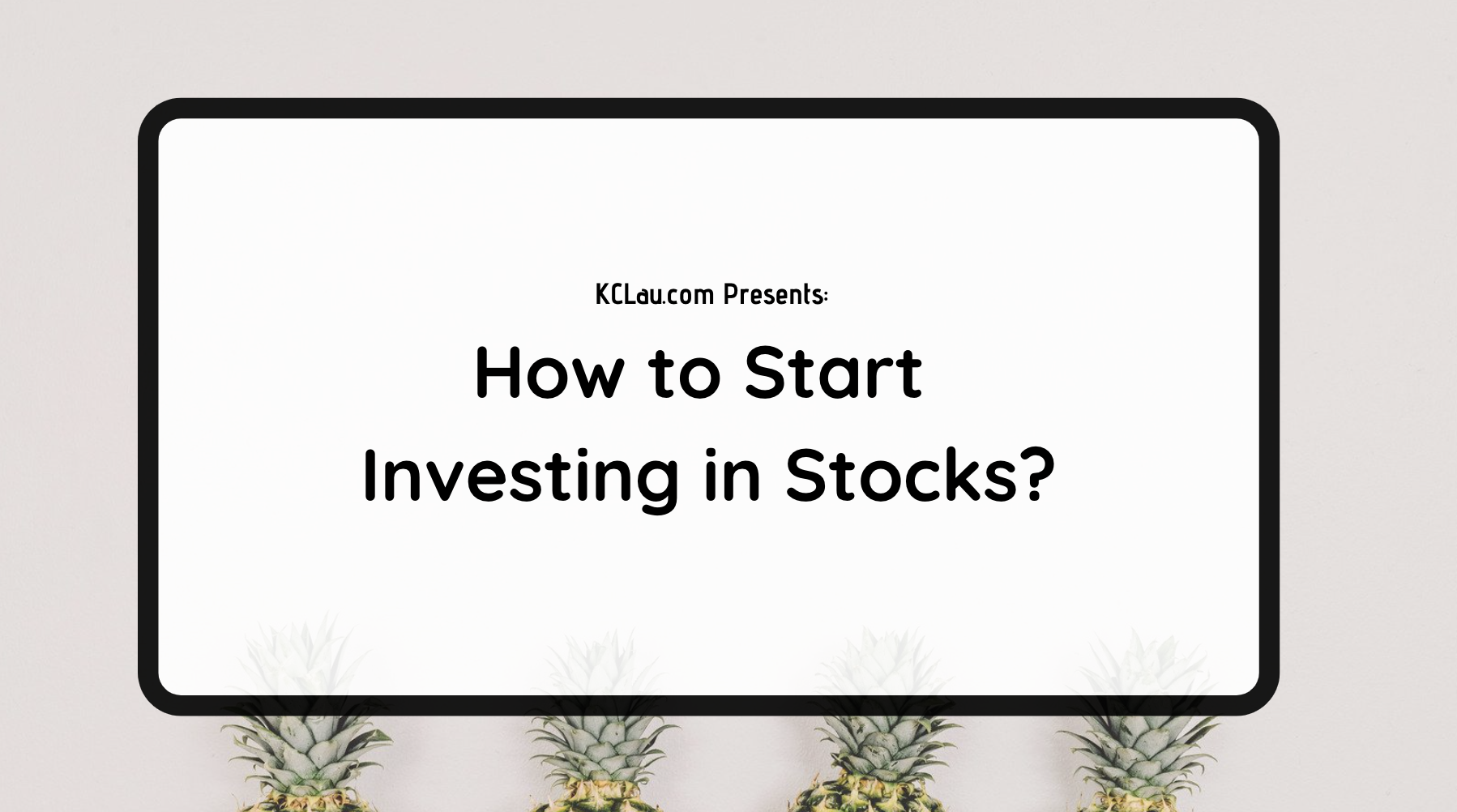How to Start Investing in Stocks?